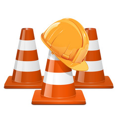 Cones with Helmet vector image