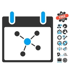 Connections Calendar Day Icon With Bonus vector