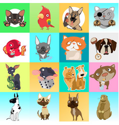 cute poster or greeting card with modern design on vector image