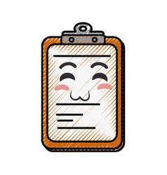 Document holder paper smiley vector