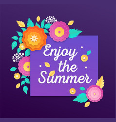 Enjoy the summer - modern colorful vector