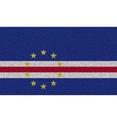 Flags Cape Verde on denim texture vector