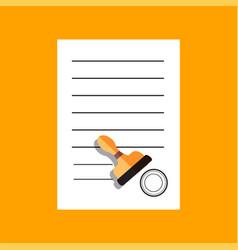 Flat document icon concept vector