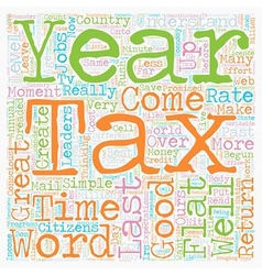 Flat Tax It Could Work text background wordcloud vector