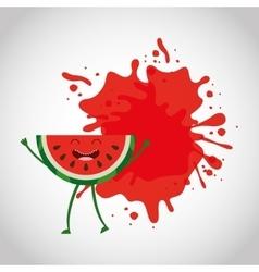 Fresh fruit comic character vector