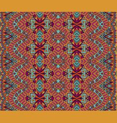 geometric doodle hand drawn carpet boho design vector image