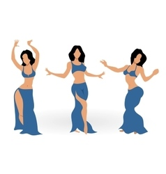 Girls belly dancing vector