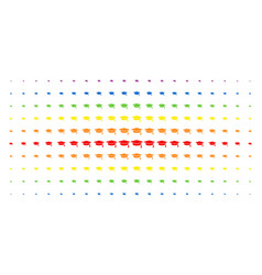 graduation cap spectrum halftone pattern vector image