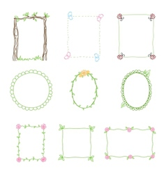 Hand Drawn Frames Set 3 vector image