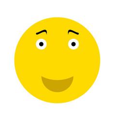 Happy smiley face emoticon vector