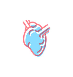 Heart icon in modern colors on white vector