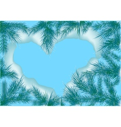 heart nature vector image