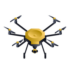 Hexacopter drone icon isometric style vector