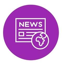 International newspaper line icon vector