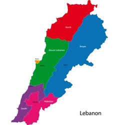 Lebanon map vector image