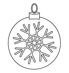 line art black and white christmas ball vector image