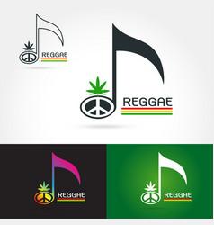 Logo for a musical reggae vector