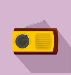 manual radio receiver icon flat style vector image