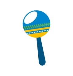 Maracas tropical instrument icon vector