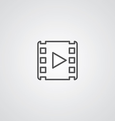 media outline symbol dark on white background logo vector image