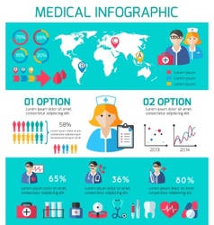 Medical icons infographic vector