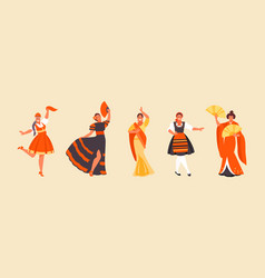 national dance set vector image