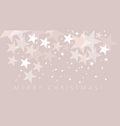 Pale color xmas star pattern vector