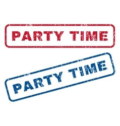 Party time rubber stamps vector