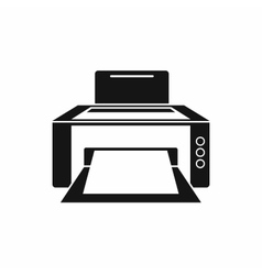 Printer icon in simple style vector