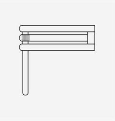Purim holiday gragger flat black outline design vector