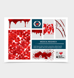 Realistic blood donation composition vector