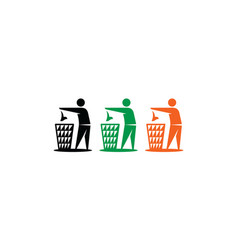 recycle garbage logo symbol icon vector image