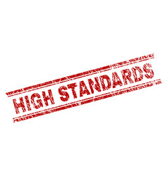 Scratched textured high standards stamp seal vector