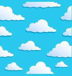 Seamless background with clouds 8 vector