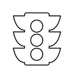 Semaphore light traffic icon vector