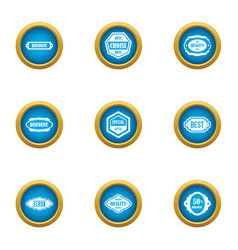 Special feature icons set flat style vector