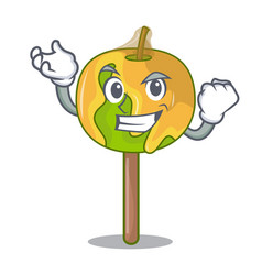 Successful candy apple character cartoon vector