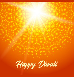 Sunny rangoli happy diwali greeting card vector