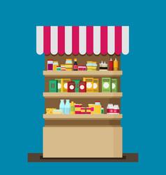 supermarket flat vector image