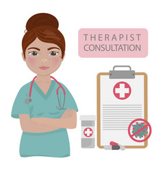 Therapist consultation coronavirus medicine doctor vector