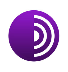 tor browser emblem vector image