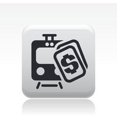 Train price icon vector