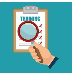 Training choose search design isolated vector