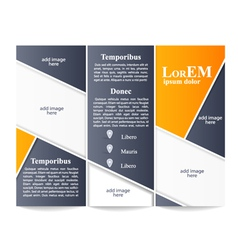 Tri-fold brochure template vector