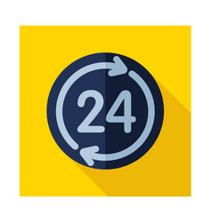 twenty four hour icon vector image