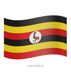 uganda waving flag icon vector image