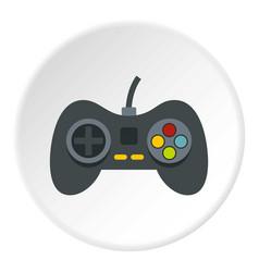 Video game controller icon circle vector