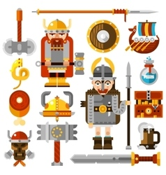 Vikings Icons Set vector