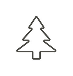 xmas tree icon outline evergreen tree lin vector image