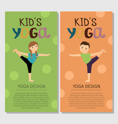 Yoga kids vertical flyer design vector